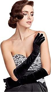 Gold velvet gloves,MoreBest Evening Dress Gloves in the Long Section of Warm Blanket Etiquette Ladies Thin Banquet Nobility Ceremonial Gloves