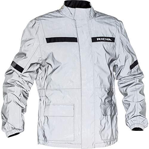 Richa Chubasquero de lluvia para bicicleta, ropa de lluvia Rain Flare, unisex, multiusos, todo el año, textil gris / plateado XL