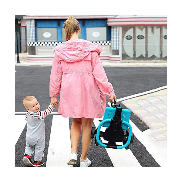 Makeups Foldable Portable Lightweight Baby Stroller Two Way Driving Baby Carriage Multipurpose Portable Baby Cart Adjustable Newborn Baby Crib Shock Absorption Can Sit Reclining Stroller Makeups Size: suitable from birth to 25 kg, length: 50.8 cm, width: 33 cm, height: 88 cm. Fold: 33cm * 16cm * 76cm. Ideal for plane, adapt to any car trunk. Designed with seat belt, non-slip grip, Top umbrella, seat cushion, bottom storage basket, all this will offer you great comfort. The stroller is equipped with adjustable belts to prevent the baby from falling. Have foot control brakes to stop at any time. 3