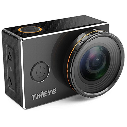 ThiEYE 4K WiFi Action Camera con Filtri Sostituibili 360 Gradi di Rotazione 60 Metri Impermeabile Sport Videocamera WiFi e App Controllo Guscio Metallico con Accessori Pieno