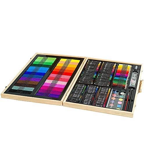 Niños para Dibujar Juego de Pintura 251 Conjuntos Cajas Regalos Acuarela Pluma Pintura Pintura Aprendiendo Papelería de niños Kit de Suministros de Arte y Artista