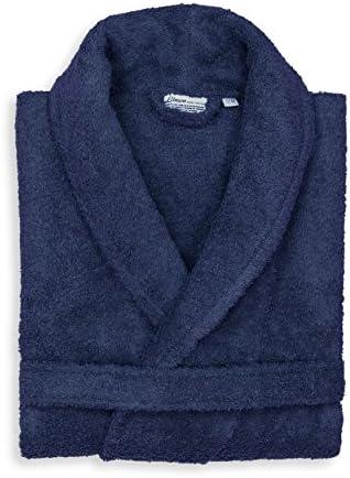 Linum Home Textiles TR50 SM Unisex Terry Cloth Bathrobe S M Navy product image