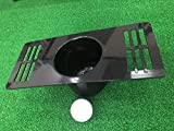 MAZEL Golf Putting Cup/Ring for Training Aid Indoor & Outdoor All-Direction Golf Practice Hole Golf Putting Accuracy Trainer (Black Cup + Ball)