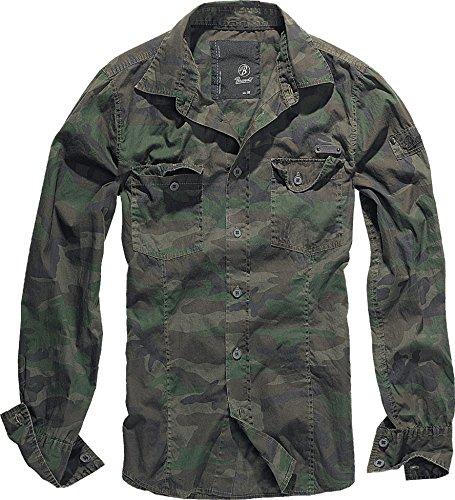 Brandit Uomo SlimFit Camicia Woodland taglia L