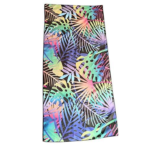 Gbcyp Beach Ouneed-handdoek Rechthoekige polyestervezel Leuke dubbelzijdige bloemenprint Badhanddoek Badrok Badjas, C