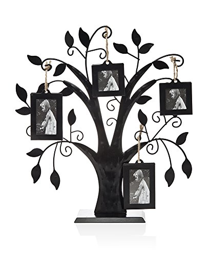 Philip Whitney Metal Family Tree With 4 Hanging Picture Photo Frames