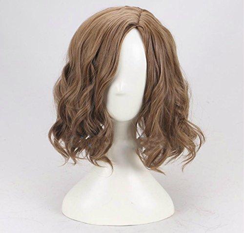 TF Halloween Herren Schwarz Sammler Perücken 32cm kurz gelockt gewellt hellbraun Perücke Kostüm Haar-Accessoires für Jungen Fancy Dress Prop Merchandise