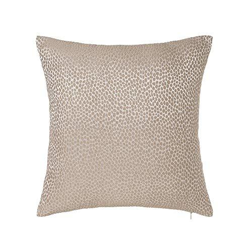 LOLAhome - Cuscino ricamato quadrato, in tessuto jacquard, 45 x 45 cm