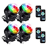 LUNSY Disco Ball Lights, Sound Activated Strobe Party Light, Remote Control, 7Pattens, Stage