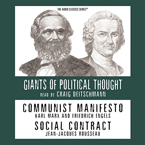 Communist Manifesto and Social Contract (Knowledge Products) Giants of Political Thought Series  Audiolibri