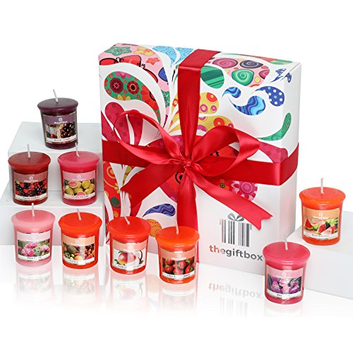 Sunmist Luxury Candle Gift Set with 9 Scented Wax Candles. Scented Candles Gift Sets Are Ideal Birthday Gifts for Women, Great Gifts for Her or Perfect Women's Gift