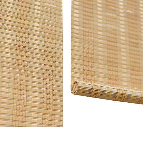 WYAN Bambus Rollos for Fenster, Roll Up Rolläden Lichtfilter Shades Datenschutz Drape, Rollo Per finestra/Porta/Patio (Size : 90X220CM)