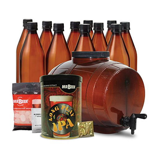 Mr. Beer 40-20974-00 IPA Edition 2 Gallon Homebrewing Craft Beer Making Kit with IPA Refill, Convenient Fermenter and Bottles Designed for Simple and Efficient Homebrewing, Multicolor