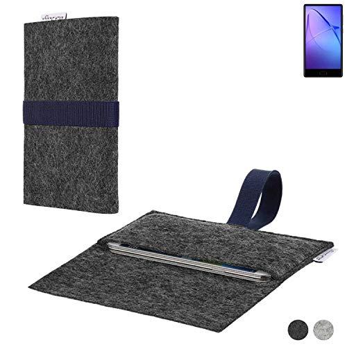 flat.design Handy Hülle Aveiro für Leagoo KIICA Mix passgenaue Filz Tasche Case Sleeve Made in Germany