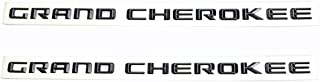 Yoaoo 2x OEM Pair Grand Cherokee Altitude Emblems Letter Alloy Nameplate Emblems SRT Badges New 08-15 1 Set Black