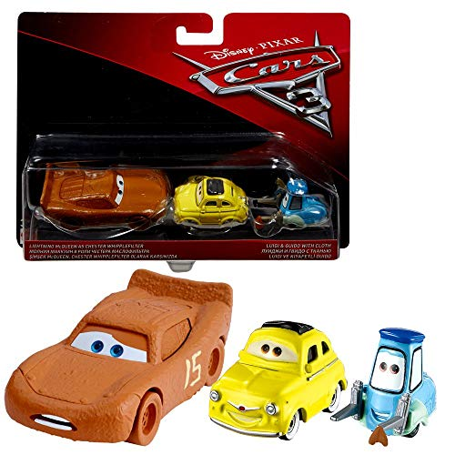 Doppelpack Modelle Auswahl   Disney Cars 3   Cast 1:55 Fahrzeuge Auto   Mattel, Typ:McQueen Whipplefilter & Luigi & Guido