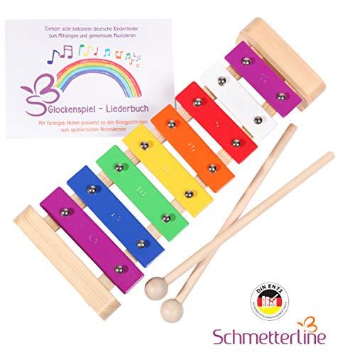 SCHMETTERLINE Glockenspiel für Kinder aus Holz