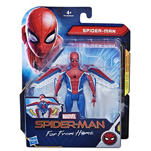 Hasbro Spider-Man Far from Home Glider Gear - Figura de acción de 15 cm con alas en Forma de alas en Forma de alas de aparente Multicolor, E4120ES0