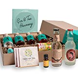 Gin Cocktail Geschenk-Set für 6 feine Gin & Tonic Interpretationen | Probier-Set mit ELEPHANT GIN &...