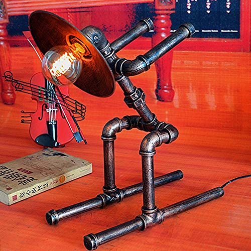 VIWIV Lámpara de Escritorio Lámpara Retro Agua Tubo lámpara Loft Industrial Bar decoración café Creativo Personalidad Hierro lámpara lámpara de Tubo de Agua 41 * 22.5 * 49cm