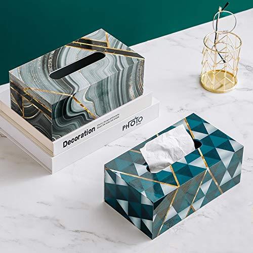 Caja de pañuelos de mármol para coche, acrílico, para oficina, escritorio, sala de estar, decoración del hogar, caja de pañuelos (color: 23 cm, cubo Rubik)