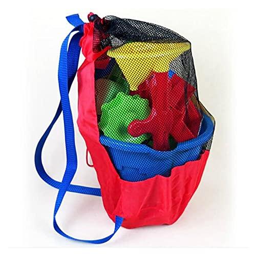 YQSBYI Borsa da Spiaggia per Bambini Baby Ocean Storage Bag Net Bag Beach Toy Bag Net Bag Acqua Divertimento Sport Bagno Abiti da Bagno Asciugamani Bambini Zaino Deposito (Color : Red)