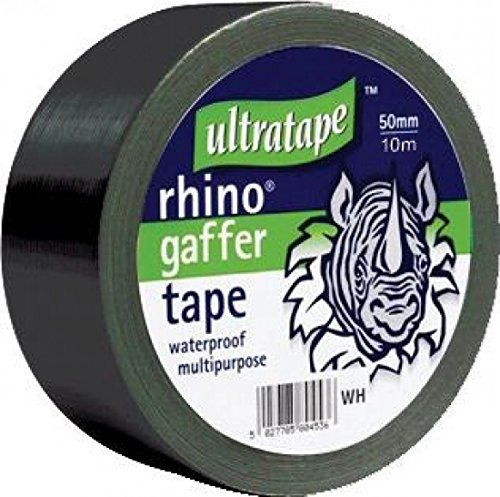 Rhino 50mm 50mtr Multipurpose Gaffer Tape Black by Ultratape