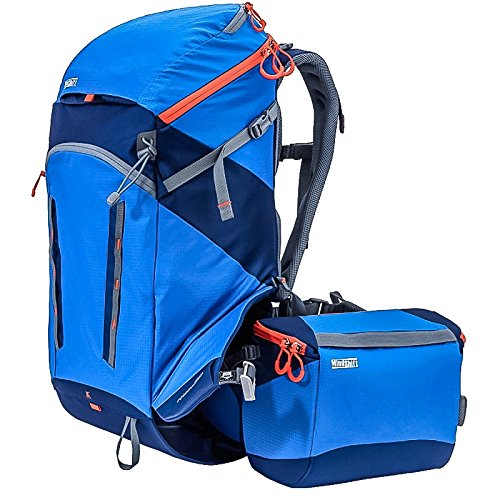 Mindshift Gear Rotation180 Horizon Tahoe Blue Outdoor-Rucksack (Fotorucksack, Wanderrucksack) mit rotierender Hüfttasche für eine (große) DSLR- oder DSLM-Kamera und Zubehör (blau/schwarz)