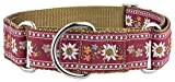 Country Brook Design 1 1/2 Red Queen of The Alps Woven Ribbon Martingale Collar - Large