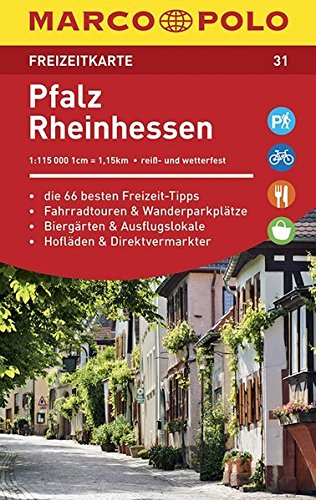 MARCO POLO Freizeitkarte Pfalz, Rheinhessen 1:115 000: Toeristische kaart 1:115 000