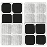 16 Pads of Easy@home 2'x 2' TENS Unit Reuseable Self Stick Carbon Electrode Pad - Non Irritating Design