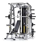 TUFFSTUFF Smith Machine, Dual Adjustable Pulley & Bench Package