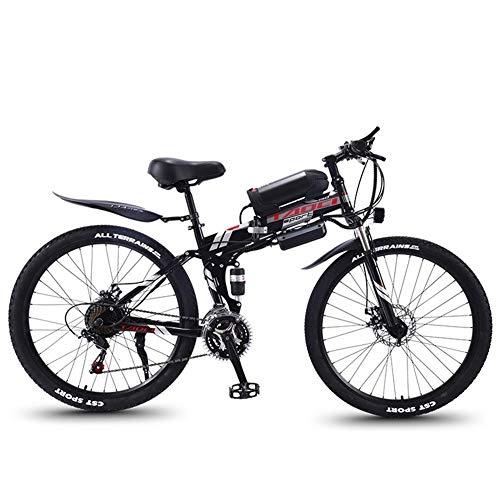 Bicicleta Eléctrica Plegable Adulto Bicicleta plegable eléctrica de montaña, Bicicletas 350W nieve,...