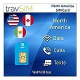 travSIM - Tarjeta SIM USA (Tarjeta SIM AT&T) por 30 Días Válidos - Ilimitados* Datos Móviles 3G 4G LTE - Estados Unidos Tarjeta SIM AT&T US (También Funciona en Canadá y México)
