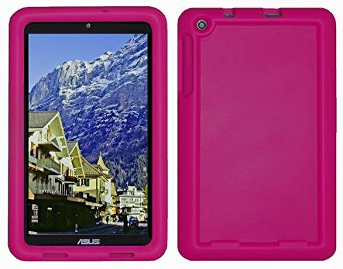 Bobj Silikon-Hulle Heavy Duty Tasche fur ASUS MeMO Pad 8 Tablette (ME181C, ME181CX, K011, MG8, MG181C, MG181CX) & ASUS VivoTab 8 (M81C, K01G) - BobjGear Schutzhulle (Himbeere)