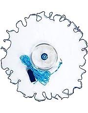 Fiske gjutet nät bete fälla 122 cm med slitstark sänkpåse lätt gjutning starkt nät kastnät för saltvatten sötvatten U