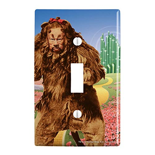 GRAPHICS & MORE Wizard of Oz Lion Character Plastic Wall Decor Toggle Light Switch Plate Cover