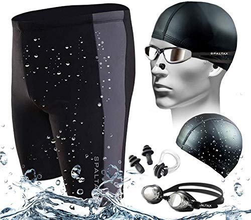 スパルタックス 水着 メンズ セット 水泳パンツ セット メンズ スイミングセット メンズ 競泳水着 セット 黒L■