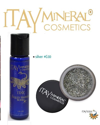 ITAY Mineral Cosmetics Liquid Eclatant Bond + Ombre a paupieres paillettes G10 Silver