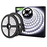 LE Tira LED Cadena de Luces, 5m 300 LED SMD 2835, Blanco Frío, No Impermeable 6000K para Techo, Escaparate, Muebles, etc. Pack de...
