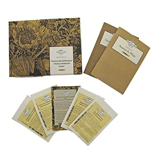 Chinesische Heilkräuter - Samen-Geschenkset mit 5 wichtigen Pflanzensorten der traditionellen chinesischen Medizin