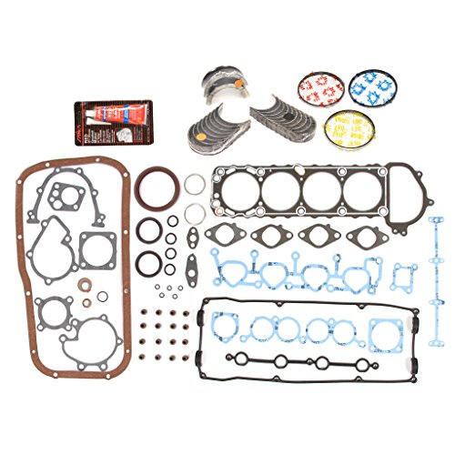 Evergreen Engine Rering Kit FSBRR3003EVE Compatible With 91-94 Nissan 240SX 2.4 KA24DE Full Gasket Set, Standard Size Main Rod Bearings, Standard Size Piston Rings