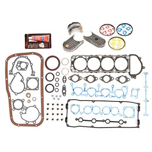 Evergreen Engine Rering Kit FSBRR3003EVE\0\0\0 Fits 91-94 Nissan 240SX 2.4 KA24DE Full Gasket Set, Standard Size Main Rod Bearings, Standard Size Piston Rings