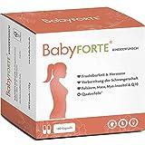BabyFORTE Kinderwunsch Vitamine – Vegan + Maca, Myo Inositol, Q10 + 800 Folsäure, Quatrefolic®, Vitamin D, Jod + 180 Kapseln für 3 Monate + Laborgeprüft
