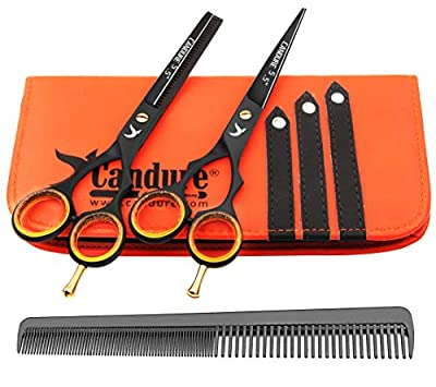 Candure Hairdressing Cutting Scissors Barber and Thinning Salon Shears Set 5.5 inch by Candure