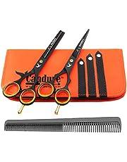 Candure Hair Cutting Scissors Professional Shears Set Hairdressing Thinning Trimming Texturizing Barber Salon Razor Edge Tools Kit Stainless Steel