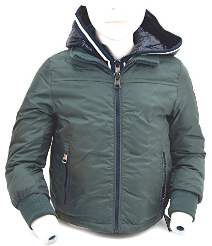 Moncler Kind Jungen Winter GEPOLSTERTE Mantel Jacke Art. PUS006 N0C97 30875 5 ANNI - Years Verde/Nero - Green/Black