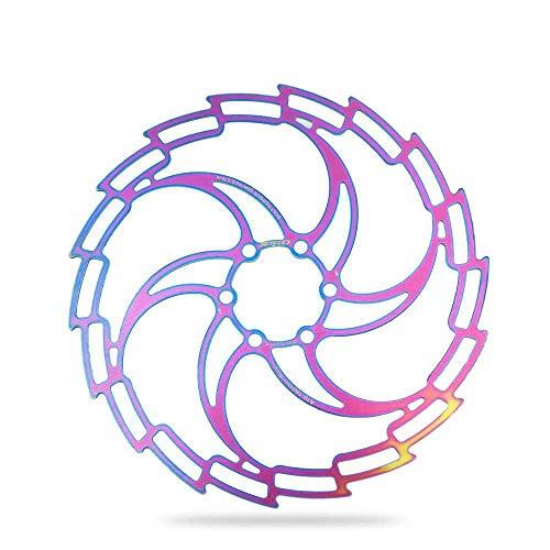 qijin Mountainbike Farbscheibe Bremsscheibe MTB Rennrad Scheibe Bremsscheibe Rainbow 160/180 / 203MM Scheibe Mit 6 Schrauben 160 mm/Farbe