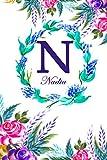 N: Nadia: Nadia Monogrammed Personalised Custom Name Daily Planner / Organiser / To Do List - 6x9 - ...