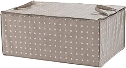 Compactor Duvet Storage Bag, Rivoli Range, Brown/White, Polypropylene and EVA, 50 x 70 x 30 cm, RAN4566, Fabric